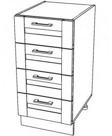 Jamajka konyha ALSÓ szekrény több típusban