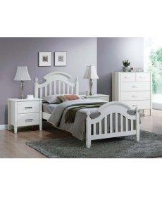 LIZBONA ágy 90x200 fehér