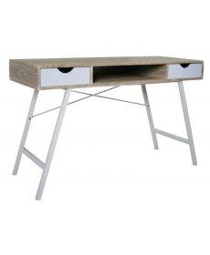 B-140 íróasztal SONOMA világos/fehér