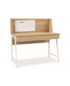 B-195 íróasztal fehér sonoma tölgy