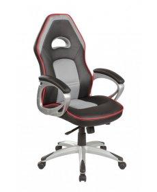 Q-055 gamer szék forgószék fekete/szürke