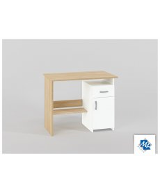 BIU 01-01 (íróasztal) SONOMA világos + fehér