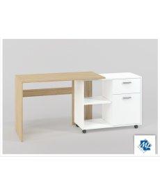 BIU 03-02 (íróasztal) SONOMA világos + fehér