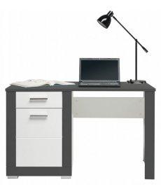 GRAY GR-12 fehér mat-grafit íróasztal