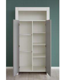 POLA TYP 612 szekrény fehér/szürke