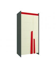 TEEN TES-2C (szekrény) ANTRACYT/bézs/piros