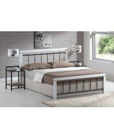 BERLIN ágy 160x200 fehér/fekete