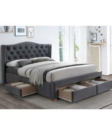 ASPEN II VELVET ágy 160x200 szürke BLUVEL