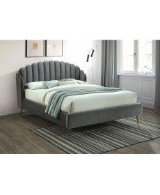CALABRIA VELVET ágy 160x200 szürke BLUVEL