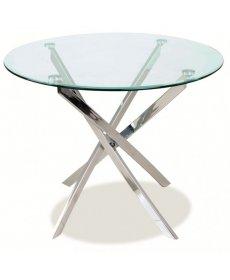 AGIS asztal fi 90 króm/üveg
