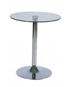 B-100 bárasztal króm/üveg