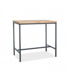 METRO bárasztal tömörfa tölgy/fekete