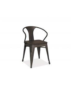 ALVA szék sötét dió/grafit