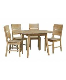 OKTAWIA asztal troja székkel natúr tölgyfa