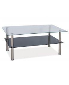 TESSA T2 dohányzóasztal üveg/króm