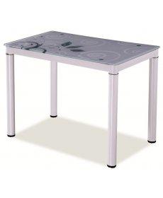 DAMAR asztal 100x60 fehér/fehér