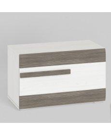 BLANCO 21 (szekrény) fehér fenyő/MDF NEW GREY