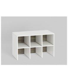 BLANCO 22 (szekrény) fehér fenyő/MDF NEW GREY