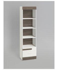 BLANCO 04 (polcos szekrény) fehér fenyő/MDF NEW GREY