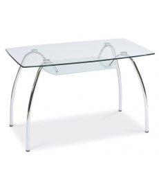 ARACHNE asztal 120x70 üveg/króm