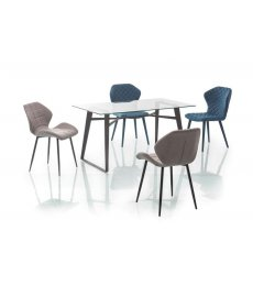 BOLT asztal 140x80 átlátszó/fekete