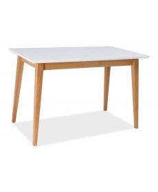 BRAGA asztal 120x68 fehér/bükk