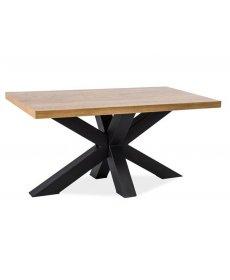CROSS B dohányzóasztal 110x60 laminalt naturNA tölgy/fekete