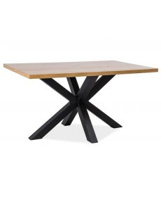CROSS asztal 150x90 tölgy/fekete