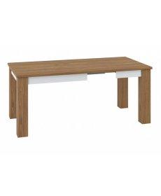 DALLAS 15 (asztal) dió/fehér fényes/dió