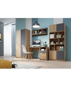 CARLOS szekrénysor ARTISAN tölgy/ANTRACYT
