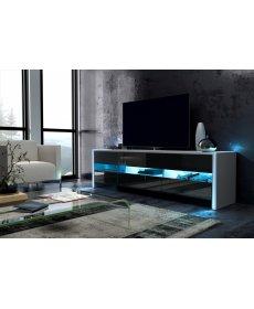 FOX TV szekrény (rtv) fehér/fekete fényes